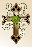 "Tattoo design with Irish cross ""hope, dream, love, believe"""
