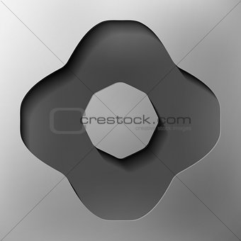 abstract shapes, abstract icon, vector style