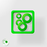 eco icon, abstract illustration