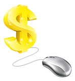 Computer mouse dollar concept
