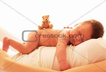 one cute newborn little baby