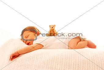 one cute little baby sleeping newborn