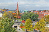 Tampere, Finland. Top-view of the city