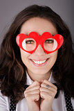Girl with Heart-Shaped Glasses