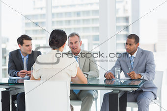 Recruiters checking the candidate during job interview