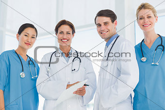 Group portrait of doctors standing together
