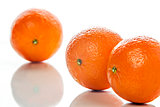 Three mandarines