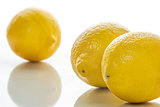 Three yellow limes