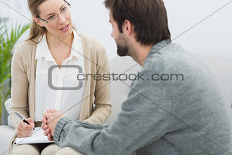 Man in meeting with a financial adviser