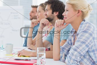 Artists in row during meeting at office
