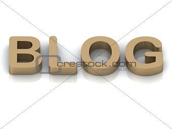 BLOG Inscription golden letter