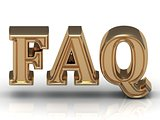 FAQ Inscription golden letter