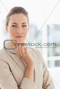 Closeup portrait of a young businesswoman