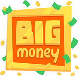 illustration plate big money