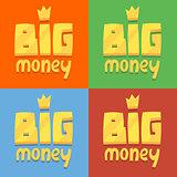 set of icons labeled big money