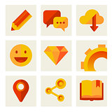 set of icons of communication and technology