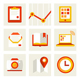 Set of business icons