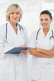 Portrait of two confident female doctors