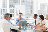 Business team having a meeting in board room