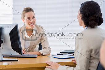 Smartly dressed businesswomen in business meeting