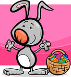 cute easter bunny cartoon illustration