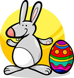 funny easter bunny cartoon illustration