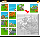 cartoon cats jigsaw puzzle game