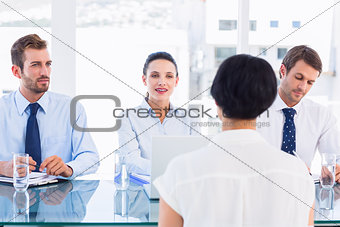 Recruiters checking the candidate during a job interview