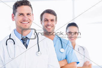 Portrait of confident happy group of doctors