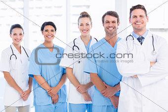Portrait of confident happy group of doctors