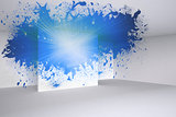 Splash showing blue light