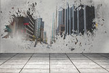 Splash showing cityscape