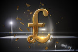 Golden pound sign