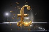 Golden pound sign