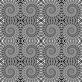 Design seamless monochrome wave pattern. Spiral textured backgro