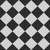 Design seamless uncolored geometric pattern. Abstract rhombus do
