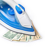 ironing the paper currency