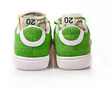 Dollars in green shoes