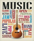 Conceptual guitar poster