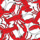 Red lobsters pattern