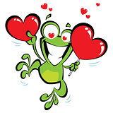 Crazy frog in love