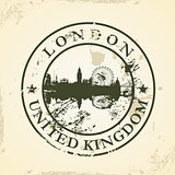 Grunge rubber stamp with London, United Kingdom