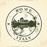Grunge rubber stamp with Rome, Italy