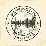 Grunge rubber stamp with Washington, Virginia