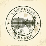Grunge rubber stamp with Las Vegas, Nevada