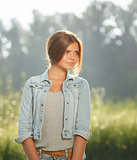 beautiful teenage girl outdoors