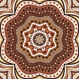 Brown romantic pattern