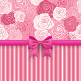 Romantic vector seamless background.