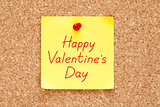 Happy Valentines Day Sticky Note