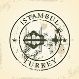 Grunge rubber stamp with Istambul, Turkey